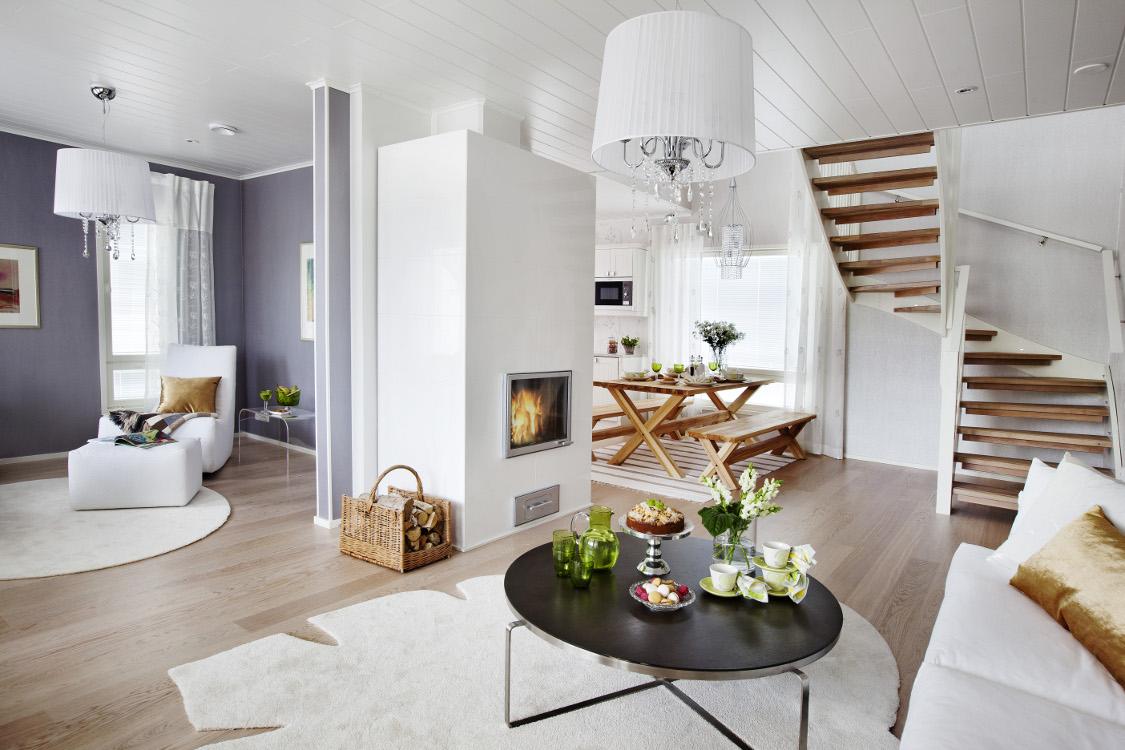 Интерьер дома в скандинавском стиле проект